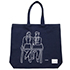 tote bag - 前田寛治 by Yu Nagaba - navy / small