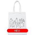 tote bag - 藤田嗣治 by Yu Nagaba - white / small