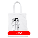 tote bag - 岸田劉生 by Yu Nagaba - white / small