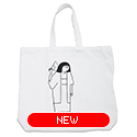 tote bag - 岸田劉生 by Yu Nagaba - white / big