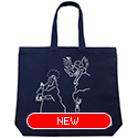 tote bag - El Greco by Yu Nagaba - navy / big