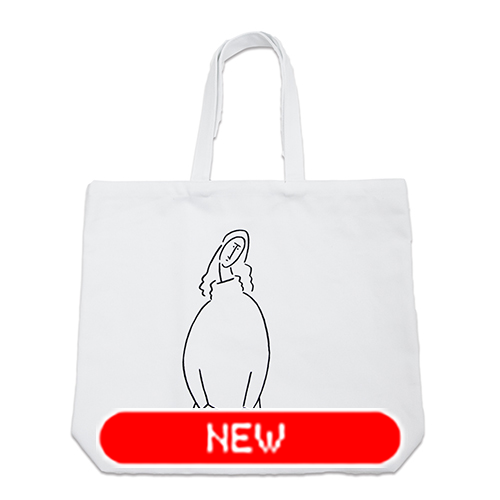 tote bag - Modigliani by Yu Nagaba - white / big