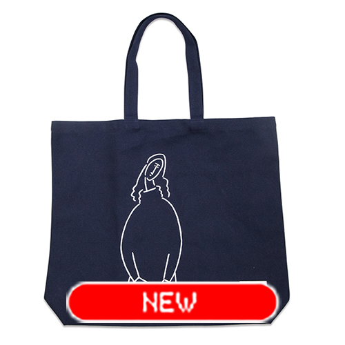 tote bag - Modigliani by Yu Nagaba - navy / big