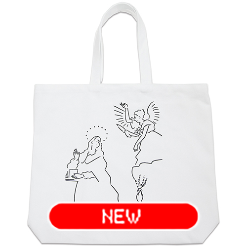 tote bag - El Greco by Yu Nagaba - white / big