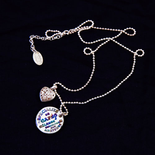 Pendant and charm(coin and heart)